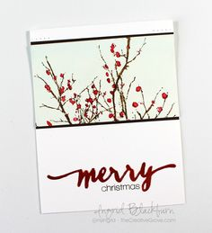 Winter Berries - tutorial showcasing the Berry Bevy Stamp set by #PennyBlack www.thecreativegrove.com
