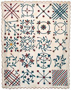 Applique quilt, c, 1870, Pennsylvania
