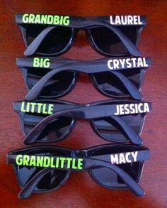 Custom Sorority Big Little Grandbig Grandlittle Family Sunglasses Glasses Gifts Gift Ideas Reveal Greek Letters