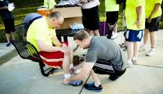 """""""Being a part of the Achilles distribution and the run afterwards was nothing short of inspirational.""""  Brendan, Soles4Souls    S4S shoe distribution at Achilles International Nashville    giveshoes.org"""