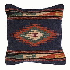 El Paso Designs Aztec Throw Pillow Covers, 18 X Hand Woven in Southwest and Native American Styles (Aztec Sky) Decorative Pillow Covers, Throw Pillow Covers, Throw Pillows, Southwest Decor, Southwest Style, Vintage Hipster, Native American Fashion, Cowgirl Style, Pillow Inserts