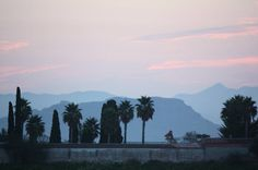 Dawn in Xativa from our local cemetery.