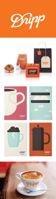 Dripp visual identity and #stationery design. Modern branding and typography.
