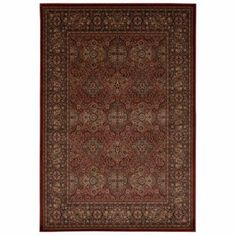 Nourison Ararat Traditional Persian Style Area Rug, Red