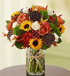 1800 flowers fall fields of europe centerpiece
