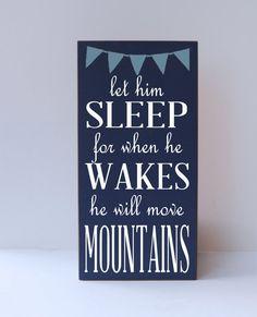 Children Wall Art Let Him Sleep Typography Word Art by vinylcrafts