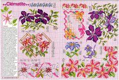 Fleurs arbres et feuilles ( Trees & leaves flowers)  _a crosstitch