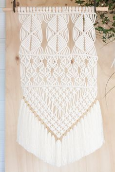 Macrame Wall Hanging // Wall Art // Fibre Art // by KnottyBloom