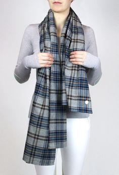 Versatile and easy to wear, the Lily Flannel Scarf ads subtle color and detail to any outfit. A soft woven flannel, you'll never want to take the Lilly scarf off. Day Bag, Retro Outfits, Womens Scarves, Plaid Scarf, Fur Coat, Lily, Cool Stuff, Cotton, How To Wear