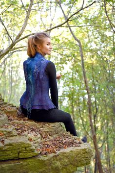Merino wool, silk, silk fibers, lace, different yarns. Merino Wool, Vest, Dresses With Sleeves, Silk, Blouse, Lace, Long Sleeve, Yarns, Felting