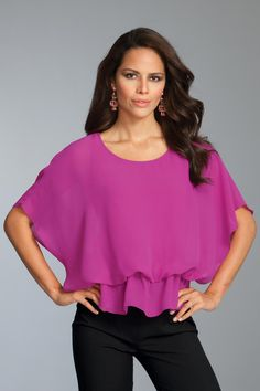Ruffled Flutter Sleeve Crop Blouse: Unique & Bold Women's Clothing from #metrostyle $23.99