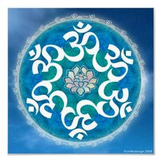 Shop Om Circle Snowflake Mandala Poster created by karmicmoon. Mandala Art, Mandala Tattoo, Reiki, Om Art, Om Symbol, Ancient Symbols, Hindu Symbols, Sacred Art, Fractal Art