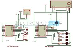 Circuit Diagram of RF Remote Control for Home Appliances without using Microcontroller: