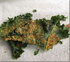 DIY Dorito Kale Chips. #Kale leaves are tossed in a variety of spices including garlic powder, onion powder, cayenne pepper and more before being baked.  The result is a light and crispy kale chip that packs a punch. - Foodista.com