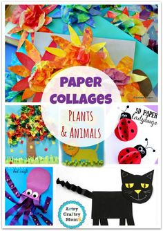 70+ Simple Paper collages You'll love to make now