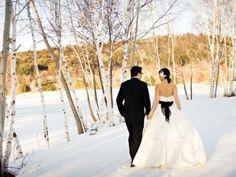 winter wedding with black details