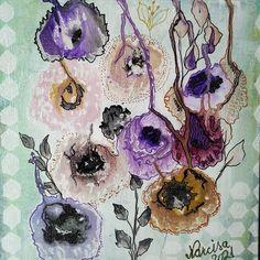 Anemone acril pe panza 20/20 cm. #paintings #art #giftideas #intuitivepaintings #intuitiveart #paintingsforsale #paintings #art #giftideas #intuitivepaintings #intuitiveart #paintingsforsale