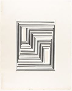 Josef Albers, 1942, To Monte Alban, from Graphic Tectonics series