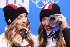 Justine Dufour-Lapointe & Chloe Dufour-lapointe win gold and silver. They are 1 & 2 in my book for sure! Justine, Olympians, Chloe, Sisters, Sporty, Celebrities, Gold, Hardware, Canada