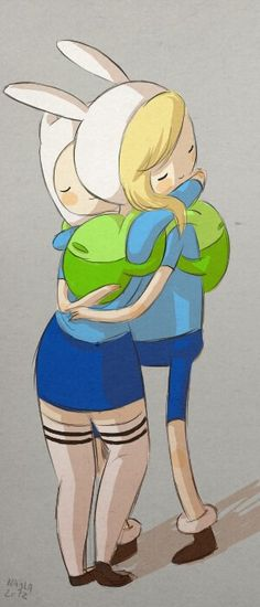 Aww finn and fionna haha cute. They would probably be be the best brother/sister friends