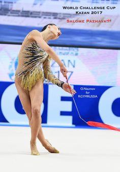 Salome PAZHAVA (Georgia)🇬🇪 ~ Ribbon @ World Challenge Cup Kazan 2017🇷🇺🍀🍀   Photographer 🇷🇺Oleg Naumov (Russia).
