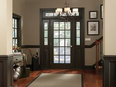 Traditional Entry (Behr Paint) Tags: brown white beige paint chocolate ..