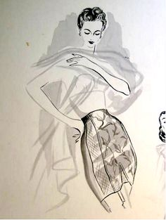 vintage girdle illustration