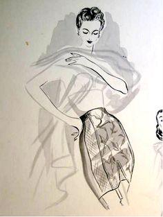 vintage girdle illustration