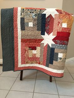 Log Cabin Star by CalicoNoveltyQuilts on Etsy
