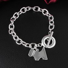 Aliexpress.com : Buy Cute silver dog tag pendant charm bracelet fashion jewelry party birthday gift new design factory price from Reliable jewelry…