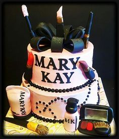 Mary Kay cake for my Directorship debut Mary Kay Ash, Beautiful Cakes, Amazing Cakes, Amazing Art, Awesome, Happy Birthday Mary, Mk Men, Debut Party, Mary Kay Party