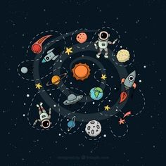 'Outer Space Planetary Illustration' iPad Case/Skin by Gordon White Free Illustration, Space Illustration, Apple Watch Wallpaper, Iphone Wallpaper, Stickers Kawaii, Something Just Like This, Photos Hd, Space Photos, Outer Space