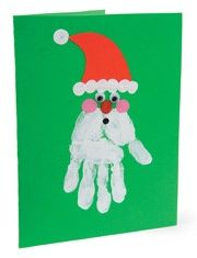 great toddler christmas card doing this in my class! inside put Look very closely and you will see, that Santas beard was made by me! Hang this Santa on your wall to remember when my hands were small!