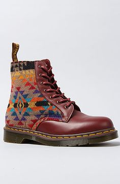 Martens Red The Pendleton X Dr Martens Boot in Cherry Red Dr. Martens, Doc Martens Boots, Sock Shoes, Shoe Boots, Shoe Bag, Wedge Boots, Casual Boots, Pumps Heels, Me Too Shoes