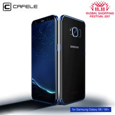 Wallmart.win Samsung Galaxy S8 Cases Ultra Cafele Transparent Plating Case For Thin Soft Tpu Electroplate Shining
