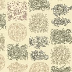 paisley block print organic cotton fabric  |  Block Party : Gilt  |   #loomdecor