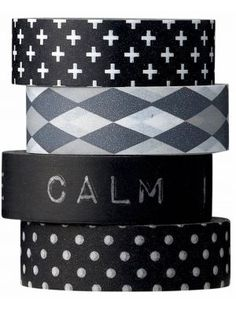 Via My Home Shopping | Bloomingville Washi Tape | Black and White |