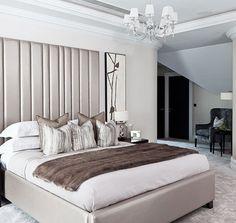 Contemporary. Oxshott, Surrey Master Bedroom Design, Home Bedroom, Contemporary Bedroom, Modern Bedroom, Guest Bedrooms, Bed Furniture, Beautiful Bedrooms, Apartment Design, Luxury Living