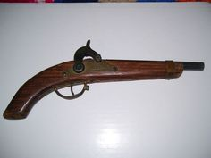 Very nice vintage black powder cap gun. 1950s Toys, Time Capsule, Hand Guns, Vintage Black, Kentucky, Weapons, Powder, Childhood, Live