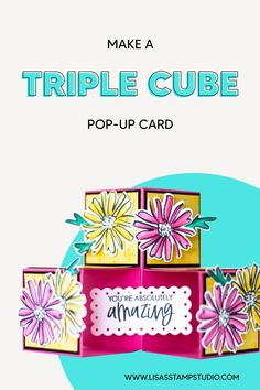 This 3D pop up card idea uses the best card making supplies from Stampin' Up! Learn how in this FREE video tutorial and FREE template. www.LisasStampStudio.com #3dcard #handmadecards #lisasstampstudio Card Making Supplies, Card Making Tutorials, Card Making Techniques, Craft Supplies, Fun Fold Cards, Pop Up Cards, Folded Cards, Craft Fair Ideas To Sell, Craft Show Ideas