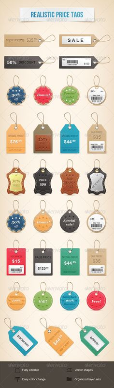 Realistic Price Tags - Miscellaneous Web Elements