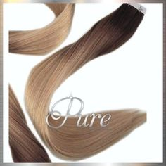 Darkest Brown To Caramel Blonde Short Root Fade Balayage /Ombre 22 Tape Silver Blonde, Brown To Blonde, Blonde Root Stretch, Tapas, Best Ombre Hair, Blonde Roots, Virgin Remy Hair, Balayage Ombré, Caramel Blonde