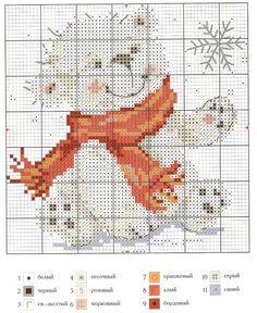 Little Polar Bear [Cross Stitch - Christmas - Animals - Kids] [Pattern / Chart]