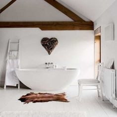 Looking for inspiration from a reader's home? This barn-style new build property in Oxfordshire combines modern touches with antiques and hand-me downs. Get plenty of real life home inspiration from Livingetc Bad Inspiration, Bathroom Inspiration, Bathroom Ideas, Barn Bathroom, Bathroom Sinks, Design Bathroom, Bathroom Interior, Interior Inspiration, Barn Living