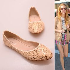 Street People Magic Sequins Lace Flat Shoes