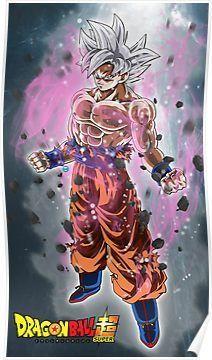 Goku Mastered Ultra Instinct Poster By D34thdesing Dragon Ball Super Goku Anime Dragon Ball Super Anime Dragon Ball