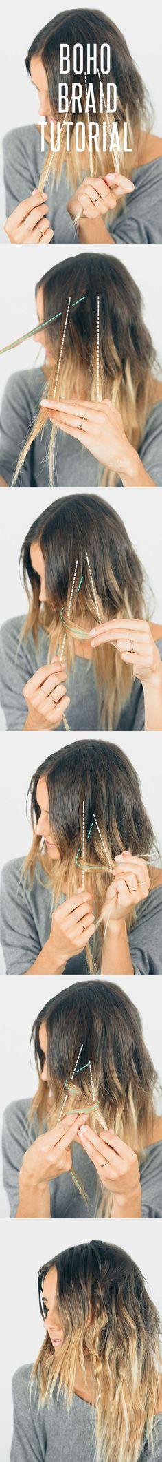 Effortless Boho Braided Hairstyle Tutorial