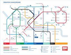 Tube map designs - Shakespeare