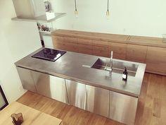 #グラッド45 #ステンレスキッチン #サンワカンパニー Bakery Kitchen, Natural Interior, Kitchen Design, House Design, Interior Design, Storage, Furniture, Interiors, Space