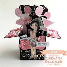 Hilda Designs: En ZAC Reto #22: Despedida de Soltera,Sellos de Latina Crafter de los sets: Detengamos el tiempo, Que Vivan los Novios,  Especialmente para ti y Hoy es tu día